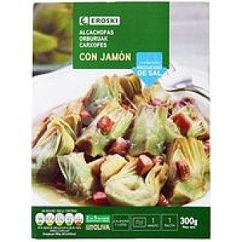 Eroski Alcachofas con jamón Bandeja 300 g