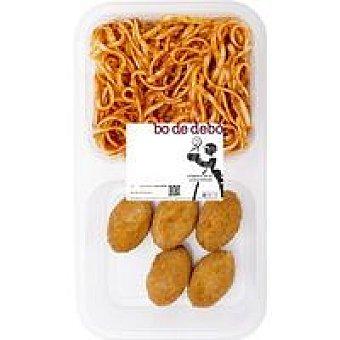 Bo de Debò Tallarines + croquetas de pollo Bandeja 400 g
