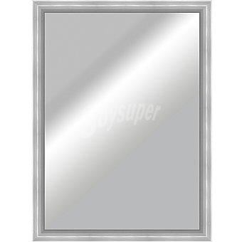 HERGON Espejo plano 50 x 70 en color aluminio plata