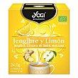 Infusión de jengibre y limón en bolistas ecológica 12 ud 12 ud Yogi Tea