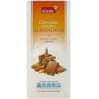 Aliada Chocolate con leche y almendras Tableta 150 g