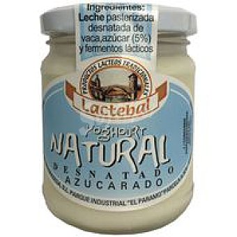 Lactebal Yogur desnatado natural Tarro 200 g