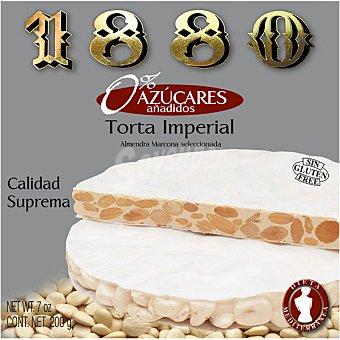 1880 Torta de turrón duro con almendra Marcona 0% azúcares añadidos estuche 200 g Estuche 200 g
