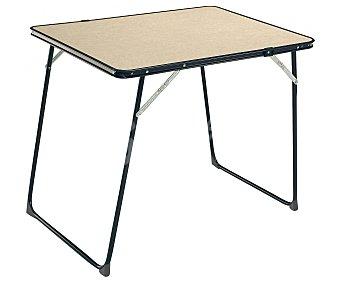 EREDU Mesa desmontable para camping y playa, con estabilizadores y tablero de Durolac con medidas 80x60 centímetros 1 unidad