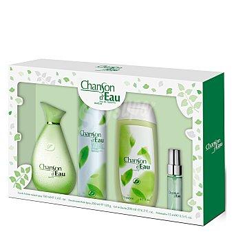 Chanson D'Eau Pack colonia (colonia 100 ml. + gel 200 ml. + deo spray 200 ml. + perfumador 15 ml.) 1 ud 1 ud