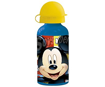 Mickey Disney Botella de aluminio con tapa, diseño Mickey, , stor disney 0,4 litros