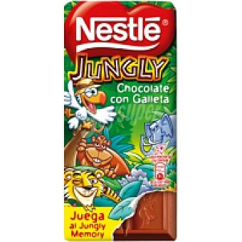Jungly Nestlé Chocolate Jungly con galletas 125 g