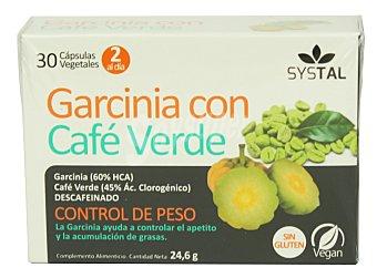 Systal Cápsulas garcinia con café verde (control de peso y apetito) Caja 30 uds