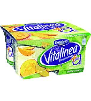 Danone Yogur desnatado con mango, 0% Pllus Pack 4 unidades de 125 g