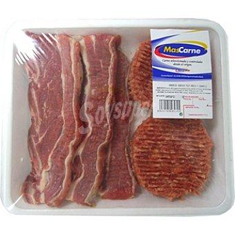 MASCARNE Surtido para barbacoa con hamburguesas de ternera y churrasco Bandeja 950 g