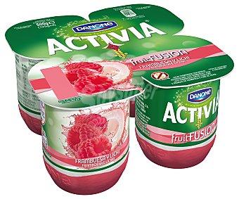 Activia Danone Yogur con bífidus frambuesa y lichi 4x125g