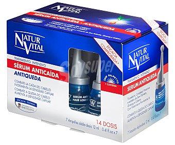Naturaleza y Vida Serum anticaída tratamiento intensivo complejo fitoactivo tricoserum y extracto de ginseng Caja 7 u x 12 ml