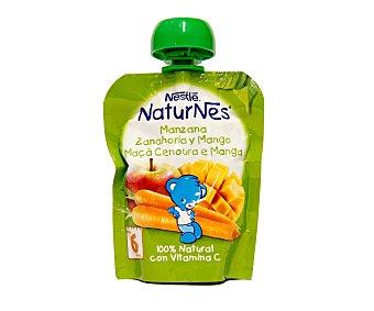 Naturnés Nestlé Bolsita de fruta con mango, zanahoria y manzana para bebés a partir de 6 meses Bolsa 90 g