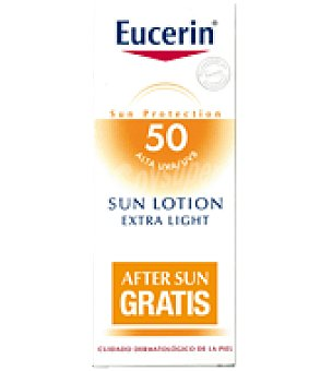 Eucerin Pack Loción Solar Extra Light SPF50 + REGALO After sun Eucerin 200ml 150 ml