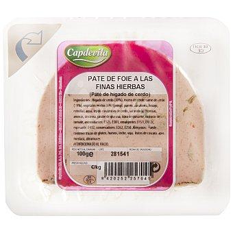 Capdevila Paté de foie a las finas hierbas Bandeja de 100 g