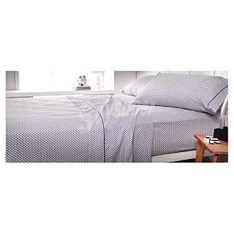 CASACTUAL Jazmín Juego de cama corbatero en color azul