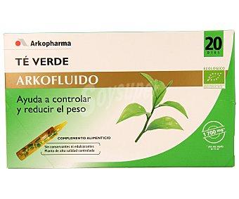 ARKOFLUIDO Té verde en ampollas 20 unidades
