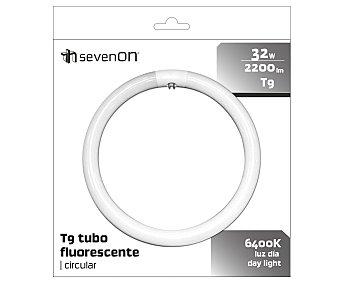 SEVENON Tubo fluorescente circular 32W, con casquillo G10Q y luz fría sevenon
