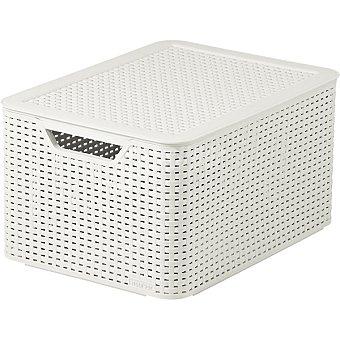 CURVER Natural Style Caja de plástico blanco 30 l