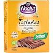 Tostadas bañadas en chocolate con leche sin gluten  Estuche 100 g Santiveri Noglut