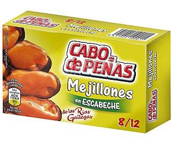 Cabo de Peñas Mejillones en escabeche de las rías gallegas 8-12 piezas Lata 69 g neto escurrido