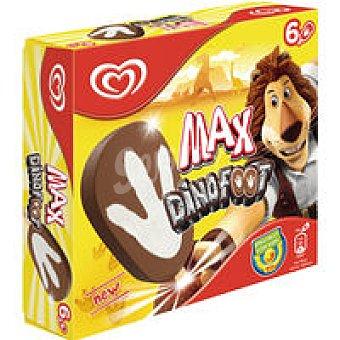 FRIGO Helado crema/choco Dinofoot pack 6x70 ml