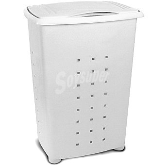 TATAY Millenium Cesto de ropa de plástico con tapa blanco 65 l 65 l