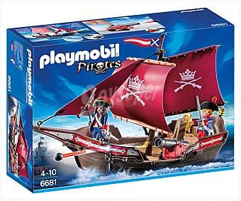 Playmobil Piratas Barco patrulla de soldados contra piratas, incluye 2 figuras y accesorios, Piratas 6681 playmobil 6681 Barco patrulla