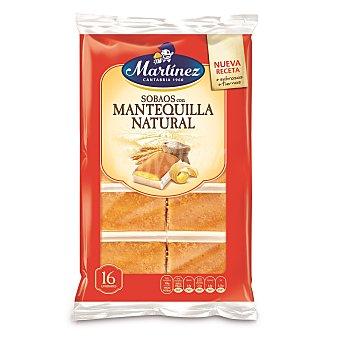 Martinez Sobaos con mantequilla natural nueva receta Bolsa 320 g (16 unidades)