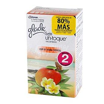 Glade Brise Ambientador un-toque Flor de mango tropical 2 recambios.