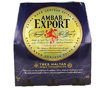 Export cerveza rubia nacional extra fuerte  pack 6 botellas 25 cl