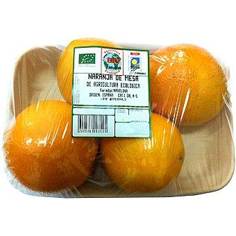 BIOMUNDI Naranjas de mesa ecológicas peso aproximado Bandeja 1 kg
