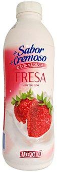 Hacendado Yogur liquido fresa Botella 1 kg