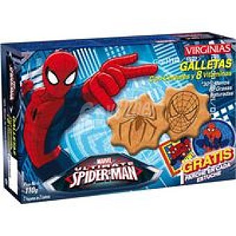 Virginias Galleta Spiderman 8 cereales-8 vitaminas Caja 110 g