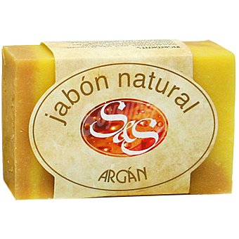 S&S Pastilla de jabón natural de Argán 100 g