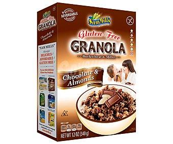 Sam Mills Granola con chocolate y almendras sin gluten 340 gramos