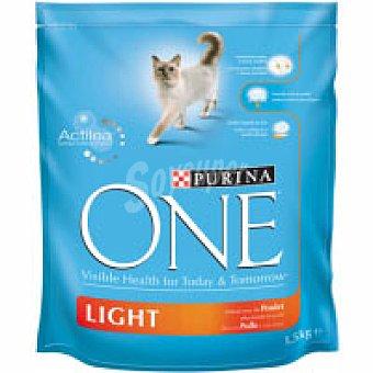 One Purina Alimento de pollo light Paquete 1,5 kg