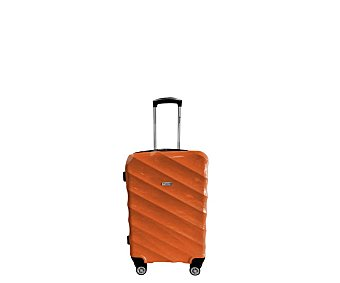 AIRPORT ALCAMPO Maleta de cabina rígida de 55 centímetros, 8 ruedas abs, color naranja alcampo