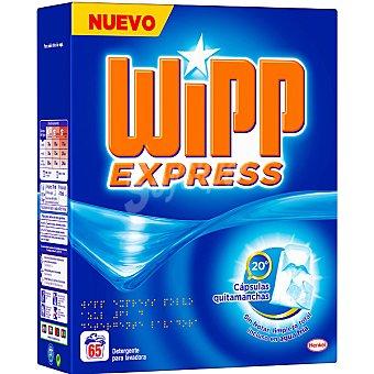 WIPP EXPRESS detergente máquina polvo cápsulas quitamanchas maleta 65 cacitos