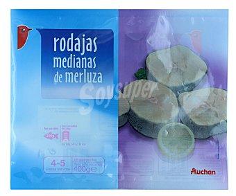 Auchan Rodajas de merluza mediana 400 gramos