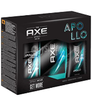 Axe Pack desodorante 150 ml. + gel 250 ml. + aftershave 100 ml. Apollo 1 ud