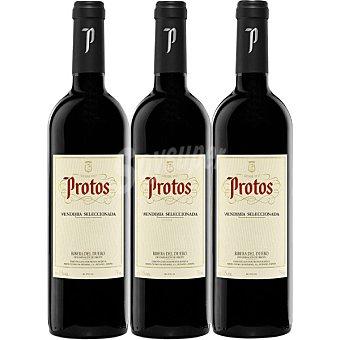 PROTOS vino tinto vendimia selecionada D.O. Ribera del Duero  Estuche 3 botellas de 75 cl