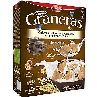 CUETARA GRANERAS Galletas integrales rellenas de cereales semillas enteras y chocolate Estuche 330 g