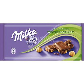 Milka Chocolate con leche y avellanas enteras Tableta 100 g