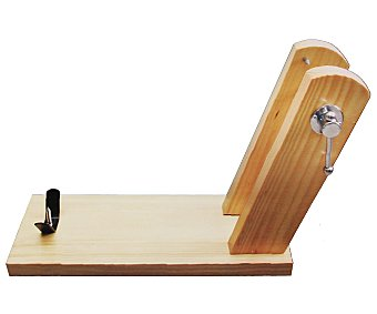 INALSA Soporte para jamón fabricado en madera con sujeción posterior de tornillo y púas superiores, 51x18x34 centímetros 1 Unidad
