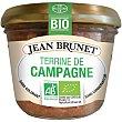 Paté de campaña ecológico Frasco 180 g Jean Brunet
