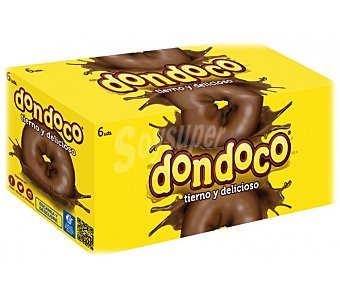 Donuts Rosco de chocolate Dondoco Pack 6 x 46 g