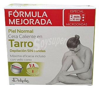 DELIPLUS Cera depilar caliente piernas y axilas (depilación sin bandas) Tarro de 250 g