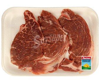 Auchan Producción Controlada Filetes de presa de cerdo ibérico fresco 500 Gramos
