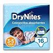 Pañal niño 3-5 años 16-23 kg huggies drynites Paquete 16 uds DryNites